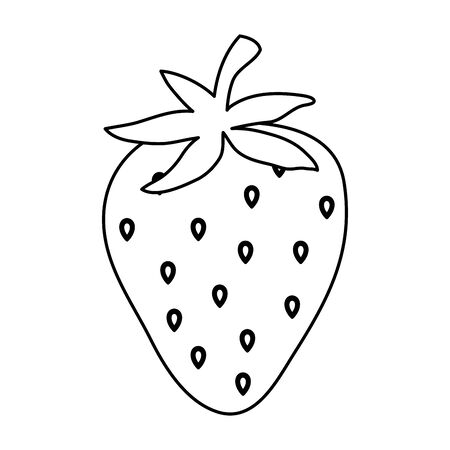fresh strawberry fruit healthy food vector illustration design
