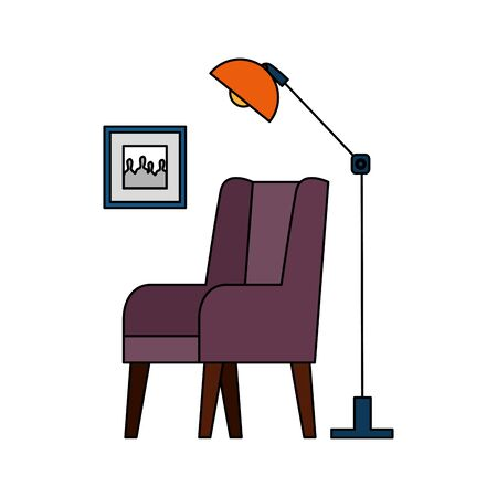home living room place scene vector illustration design Banque d'images - 129507899
