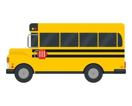 school bus transport isolated icon vector illustration design Foto de archivo - 129507932