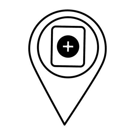 navigation pointer battery on white background vector illustration