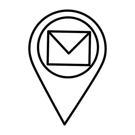 navigation pointer mail communication vector illustration design Ilustrace