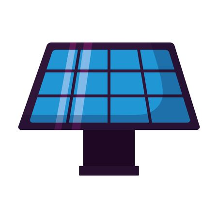 solar panel energy on white background vector illustration  イラスト・ベクター素材