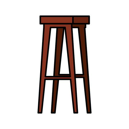 wooden bench forniture isolated icon vector illustration design 向量圖像