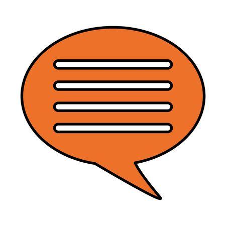 message speech bubble on white background vector illustration Stock fotó - 129507989