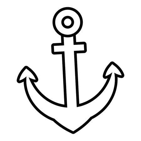 anchor marine nautical symbol icon vector illustration Stock fotó - 129507999