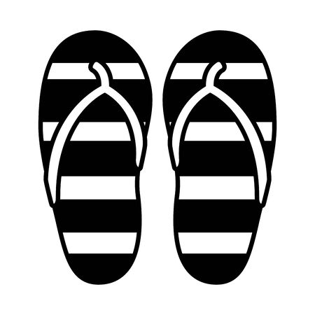 rubber flip flops accessory on white background Illustration