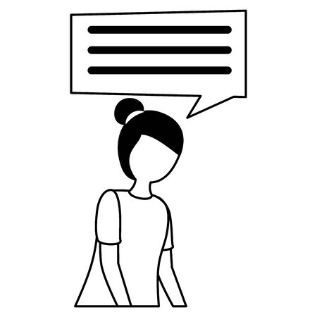 sadness girl disappointed and depressed talk bubble vector illustration 版權商用圖片 - 129508001