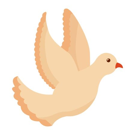 beautiful dove bird flying icon vector illustration design