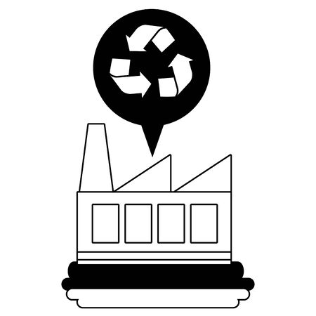 factory water recycle eco friendly environment vector illustration