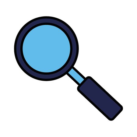 magnifying glass searching on white background vector illustration