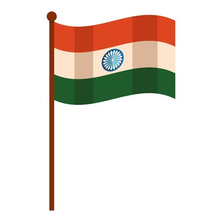indian flag independence day icon vector illustration design