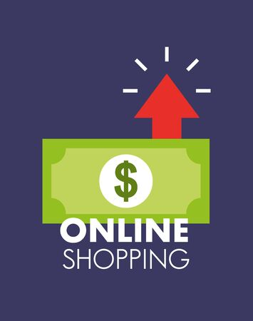 Shopping online icon design, ecommerce media market internet technology and retail theme Vector illustration