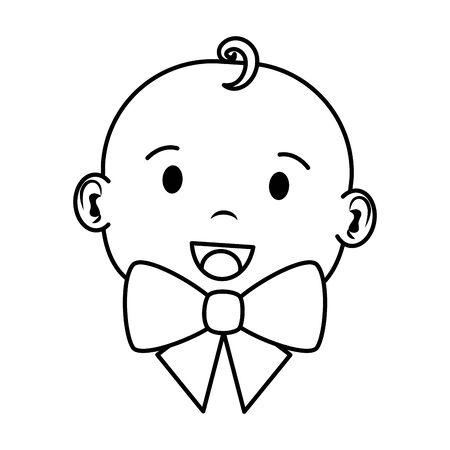 cute little baby boy character vector illustration design Ilustracja