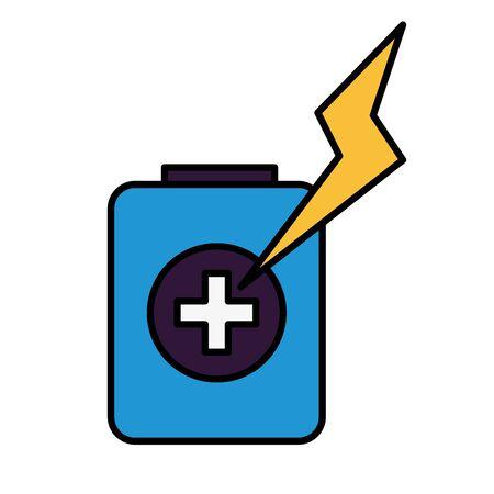 Batterieladung Energie Energie auf weißem Hintergrund Vektor-Illustration Vektorgrafik