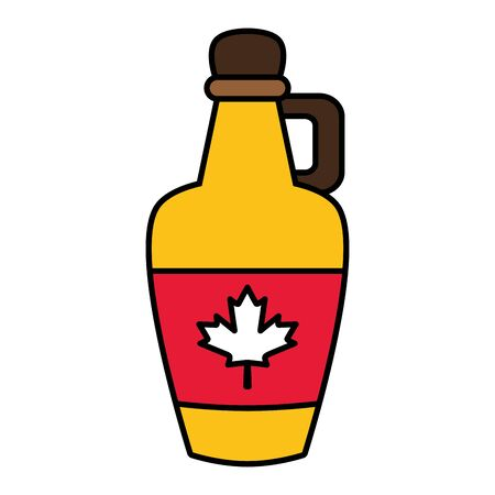 syrup bottle canadian flag happy canada day vector illustration