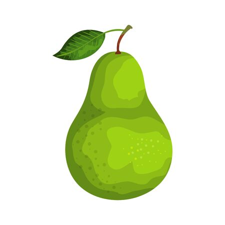 fresh pear fruit nature icon vector illustration design