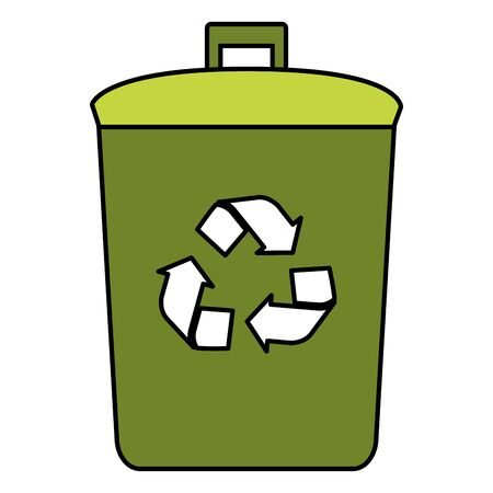 bin recycle eco friendly environment vector illustration Illustration
