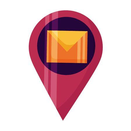 Puntero de navegación, diseño de ilustraciones vectoriales de comunicación por correo