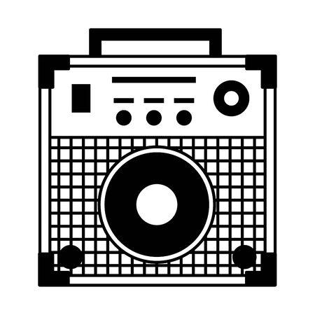 Sound-Verstärker-Festival-Musik auf weißem Hintergrund-Vektor-Illustration