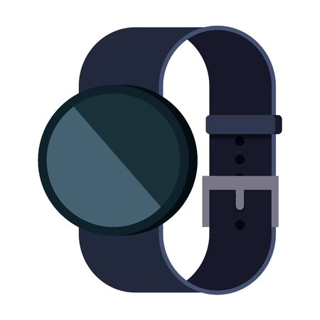 smartwatch weareable technology device vector illustration design Illustration