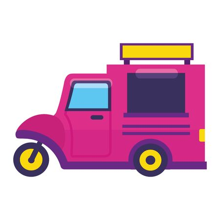 food truck on white background vector illustration Foto de archivo - 129712631