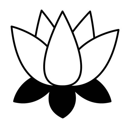 indian lotus flower nature icon vector illustration design