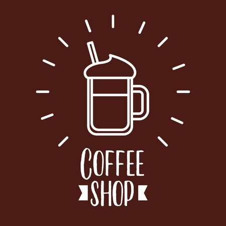 Iced coffee design, Drink breakfast beverage bakery restaurant and shop theme Vector illustration