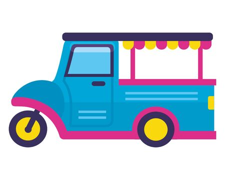 food truck on white background vector illustration Ilustrace