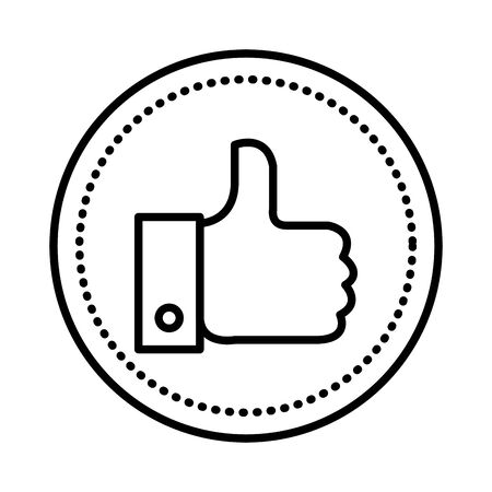 hand like social media icon vector illustration design Çizim