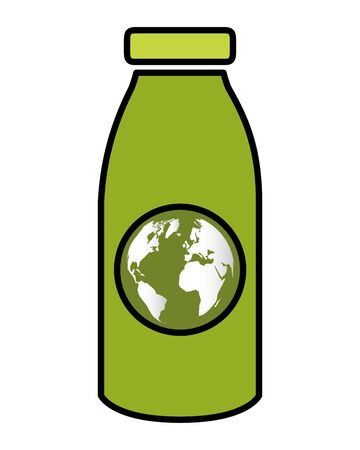 green bottle world eco friendly environment vector illustration