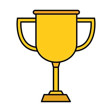 trophy cup award isolated icon vector illustration design Archivio Fotografico - 129715392