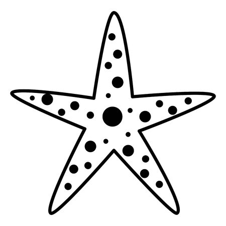 starfish wildlife on white background vector illustration vector illustration