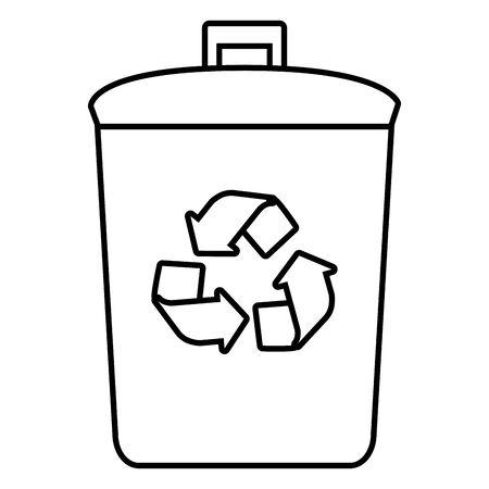 bin recycle eco friendly environment vector illustration Archivio Fotografico - 129726741