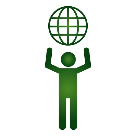 green man world eco friendly environment vector illustration Illustration