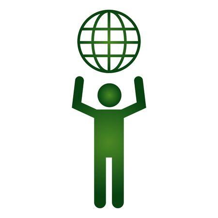 green man world eco friendly environment vector illustration Ilustração