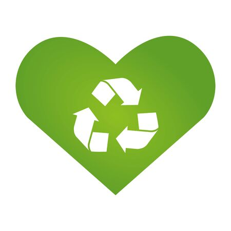 heart love recycle eco friendly environment vector illustration  イラスト・ベクター素材