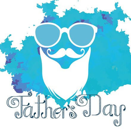 glasses with mustache and beard to fathers day vector illustration Archivio Fotografico - 129748455