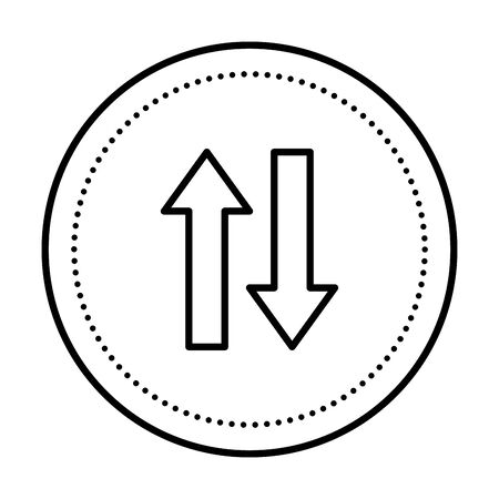 arrows direction up and down icon vector illustration design Illustration