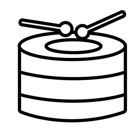 drum and sticks on white background vector illustration  イラスト・ベクター素材