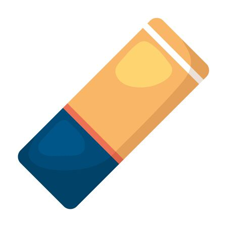 eraser school supply isolated icon vector illustration design