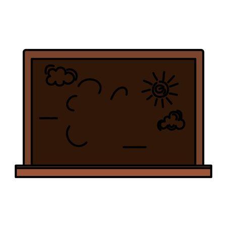 school chalkboard education supply icon vector illustration design