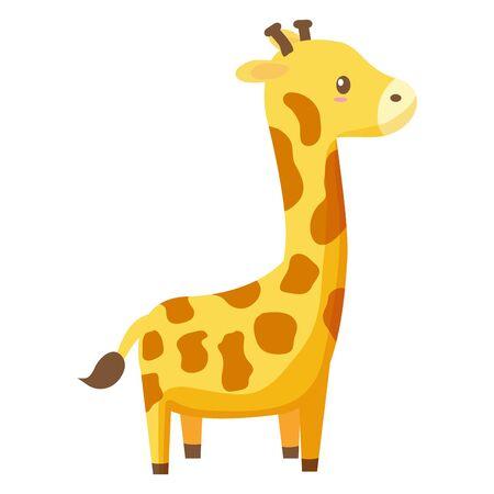 giraffe toy on white background vector illustration