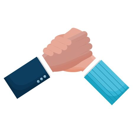 hands business persons done deal vector illustration design  イラスト・ベクター素材