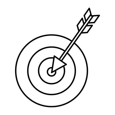 Diseño de ilustración de vector de icono de éxito de flecha de destino Ilustración de vector