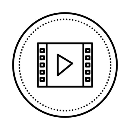 media player template isolated icon vector illustration design Banque d'images - 129519839