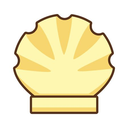 scallop sea shell wildlife tropical vector illustration