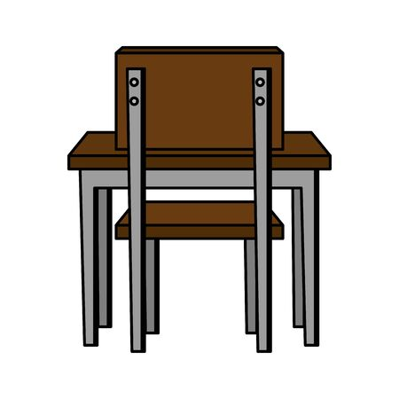 schooldesk with chair education icon vector illustration design Banque d'images - 129519972