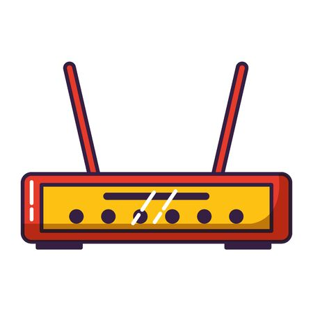 router internet on white background vector illustration Vektoros illusztráció
