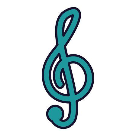 musical note on white background vector illustration Illusztráció