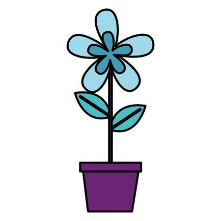 flower in pot decoration white background vector illustration 向量圖像